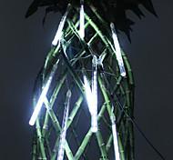 20 centímetros Festival decoração em branco Meteoro Luzes LED chuva para Festa de Natal (8-Pack, 110-220V)