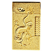 Gold Brick Dragon Pattern Gas Lighter