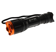 LED Flashlights/Torch / Handheld Flashlights/Torch LED 5 Mode 1800 Lumens Cree XM-L T6 18650 Others , Black Aluminum alloy