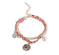 Fashion Pu Chain Pendant  Alloy Bracelet