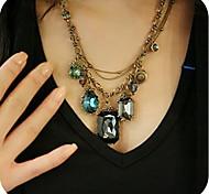 Frauen vintage Edelstein Halskette