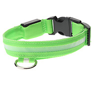 Adjustable High Quality Nylon LED Collar for Dogs (Green)