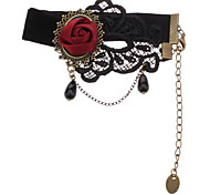 Z&X®  Red Rose Black Lace Ankle Chain