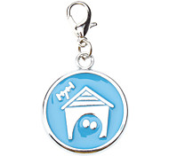 Blue Dog House Style Collar Charm for Dogs Cats