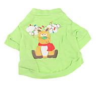 Reindeer Pattern Cotton Pet T-Shirt für Hunde (XS-L)