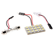 T10/Festoon 3W 15x5050 SMD LED Bombilla Luz Blanca Lámpara para lectura de coches (12V)