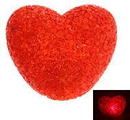 Sweet Heart Shaped Red Crystal Light Lamp LED Noite (3xLR44)