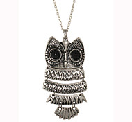 Sheet Metal Connection Owl Necklace
