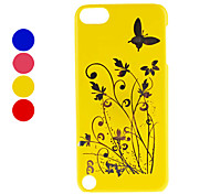 Butterfly and Flower Pattern Hard Case for iTouch 5 (Assorted Colors)