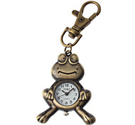 Unisex Frog Design Alloy Analog Quartz Keychain Watch (Bronze)