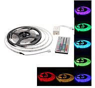 EUR € 27.89 - Wasserdichte LED- Licht-Streifen mit 44-Tasten-Fernbedienung; 5 Meter; RGB; 300x3528; SMD (12V)