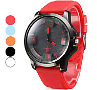 Men's Silicone Analog Quartz Wrist Watch (Assorted Colors)