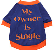 My Owner is Single Pattern T-Shirt for Dogs (Blue,S-XXL)