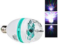 Geräusch aktiviert LED Kugelbirnen E26/E27 3W 270 LM K 3 High Power LED RGB AC 85-265 V