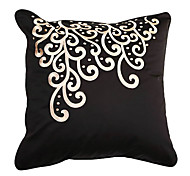 Modern Embroidery Floral Decorative Pillow Cover