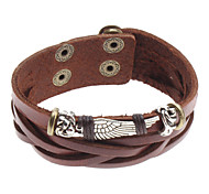 Men's Charm Bracelet Leather Bracelet Alloy Leather Unique Design Fashion Others Wings / Feather Jewelry 1pc