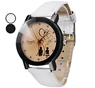 Women's Lovers Pattern PU Leather Band Quartz Wrist Watch (Assorted Colors) Cool Watches Unique Watches
