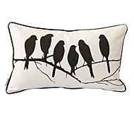 sussurro aves impressão fronha decorativo