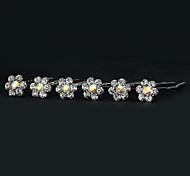 Beautiful Alloy With Rhinestone Women's Wedding Pins,6 Pieces