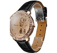Donna PU analogico al quarzo orologio da polso (colori assortiti)