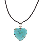 Coeur Vert Turquoise Collier