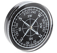 Plastic Portable Black Plated Compass