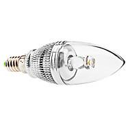 3W E14 Ampoules Bougies LED C35 1 LED Haute Puissance 240 lm Blanc Chaud Gradable AC 85-265 V