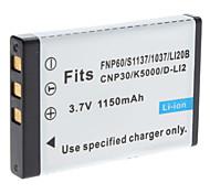 Digital Video Battery ersetzen Fuji.NP-60 für FUJIFILM 50i F401 and More (3,7 V, 1150 mAh)