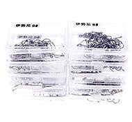 Piccola Argento Super Durezza / Full-Carbon / Sharp Amo da pesca (1 # ~ 15 #, 10 scatole / 1 pezzi)