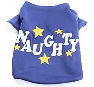 Youth Style NAUGHTY Pattern Inner Fleeces Shirt for Dogs (XS-L)