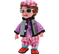 Singing and Dancing Toy Wearing Sunglasses Boy in Fashionable Clothes (3xAA, Random Color)