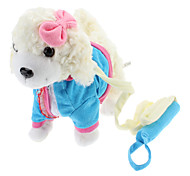 Singing and Dancing Toy Bowknot Plush Puppy (3xAA, Assorted Color)
