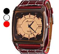 Dames PU Analoog Quartz Wrist Watch (verschillende kleuren)
