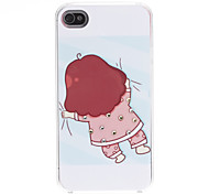 Cartoon Design Case modelo precioso Duro para iPhone 4/4S
