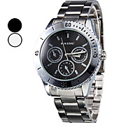 Herren Stahl Analog Quarz-Armbanduhr (Silber)