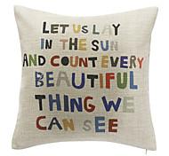 Letters Cotton Decorative Pillow Cover