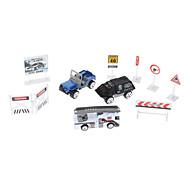 1:87 camion blocco stradale della polizia Fighter 10 pezzi Mini Toy Pack (Modello: JP700, stile casuale)