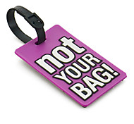 Travel Luggage Tag - NOT YOUR BAG(Purple)