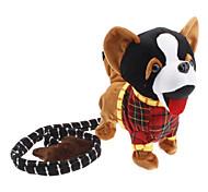 Walk the Dog Singing and Barking Shaking Tail Puppy Plush Toy (3xAA, Black)