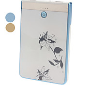 7000mAh Fashionable Flowery Pattern Double USB Mobile Power Bank for Travel