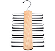 20 Ties Wooden Handy Wardrobe Tie Hanger Rack