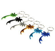 Colorful Palm Tree Shaped Bottle Opener Keychain (6-Pack)