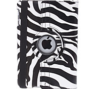 Rotatable Zebra-Stripe PU Leather Case w/ Stand for iPad mini 3, iPad mini 2, iPad mini