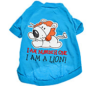 Lovely Lion Pattern Cotton T-Shirt for Dogs (XS-L)