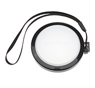 MENNON 55mm Camera White Balance Lens Cap Cover with Hand Strap (Black & White)
