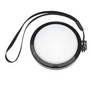 Mennon Cámara 55mm lente Balance de blancos Tapa Cubierta con correa de mano (Negro y Blanco)
