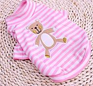 Clumsy striscia modello orso Bottoming T-shirt per cani di taglia (a colori assortiti, XS-XL)