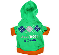 Dog Hoodies - XS - Spring/Fall - Green Cotton