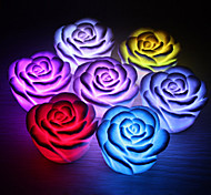 Romantic Rose Shaped 7 Colors Changing LED Night Light (3xAG13)