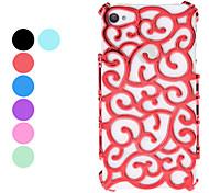 Hollow Flor Salida Style Design duro caso para iPhone 4 y (colores surtidos) 4S